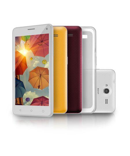 Smartphone Ms50 Colors Multilaser Branco 5\ 8.0mp 3g Quad 8gb 5.0 - P9002