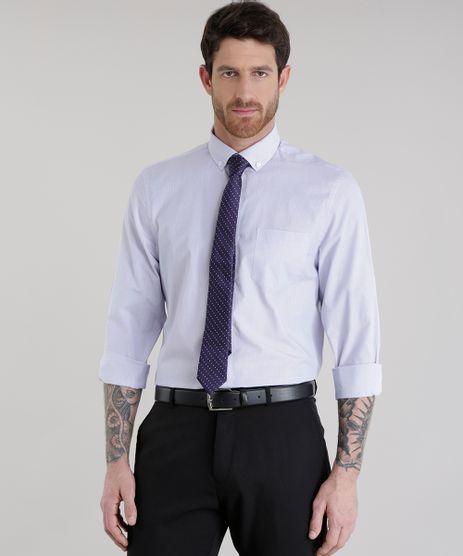 Camisa-Comfort-Listrada---Gravata-Estampada-de-Poa-Roxa-8581606-Roxo_1