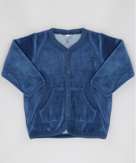 Cardigan-em-Plush-de-Algodao---Sustentavel-Azul-Marinho-8499718-Azul_Marinho_1