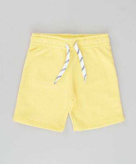 Bermuda-em-Moletom-Amarela-8615081-Amarelo_1
