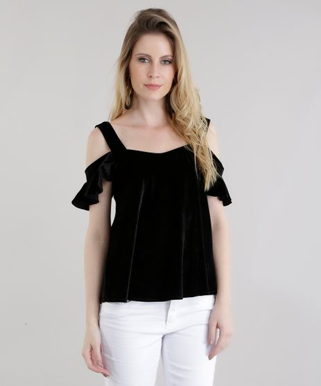 Blusa-Open-Shoulder-em-Veludo-Molhado-Preta-8649487-Preto_1