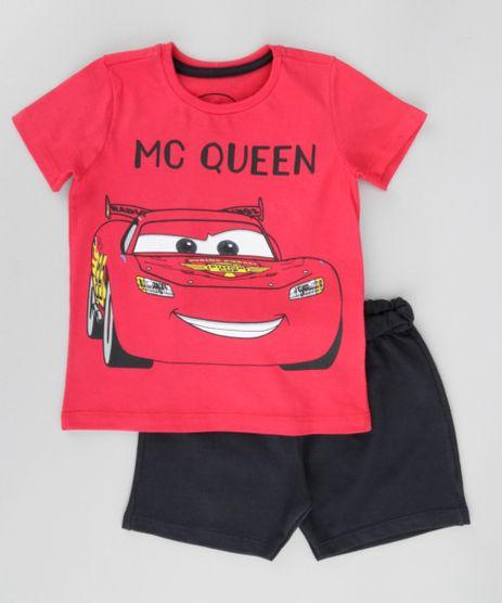 Conjunto-Mc-Queen-de-Camiseta-Vermelha---Bermuda-em-Moletom-Preta-8664325-Preto_1