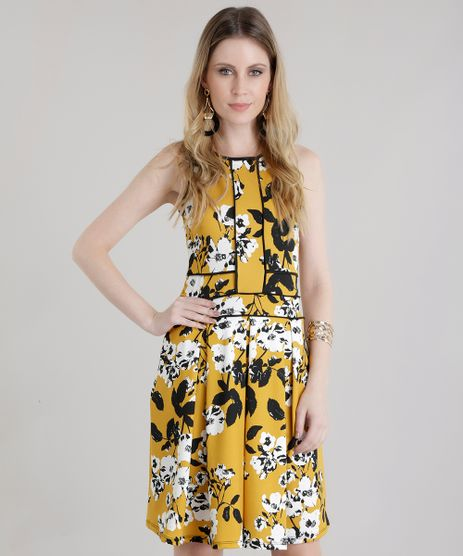 Vestido-Estampado-Floral-Amarelo-Escuro-8654198-Amarelo_Escuro_1