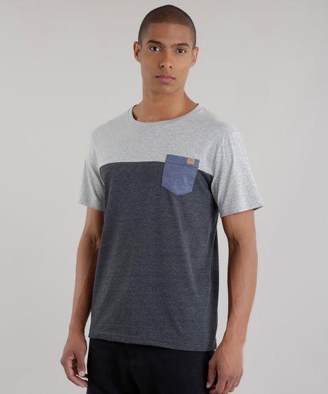 Camiseta-com-Recorte-Cinza-Mescla-Escuro-8451632-Cinza_Mescla_Escuro_1