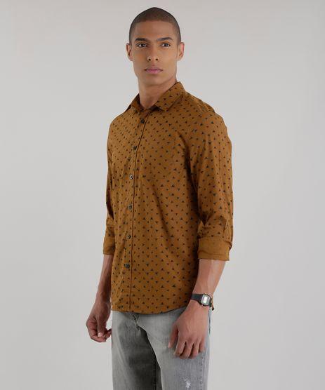 Camisa-Estampada-de-Geometrica-em-Algodao---Sustentavel-Caramelo-8448765-Caramelo_1