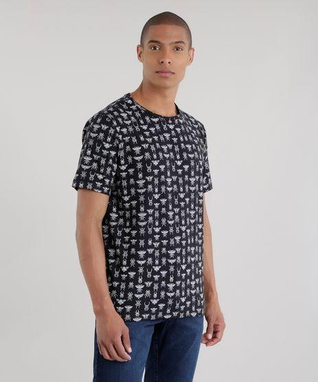 Camiseta-Estampada-de-Besouros-Preta-8681145-Preto_1