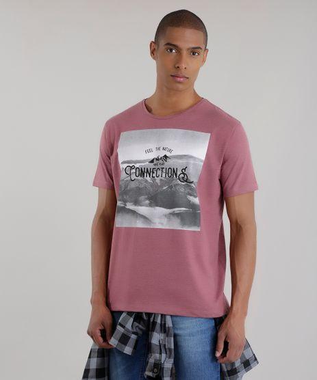 Camiseta--Feel-the-Nature-and-Make-Connections--Vinho-8629648-Vinho_1
