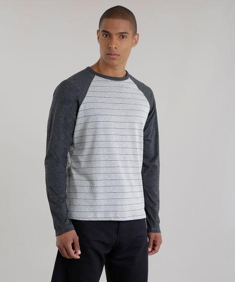 Camiseta-Listrada--Cinza-Mescla-Escuro-8616171-Cinza_Mescla_Escuro_1