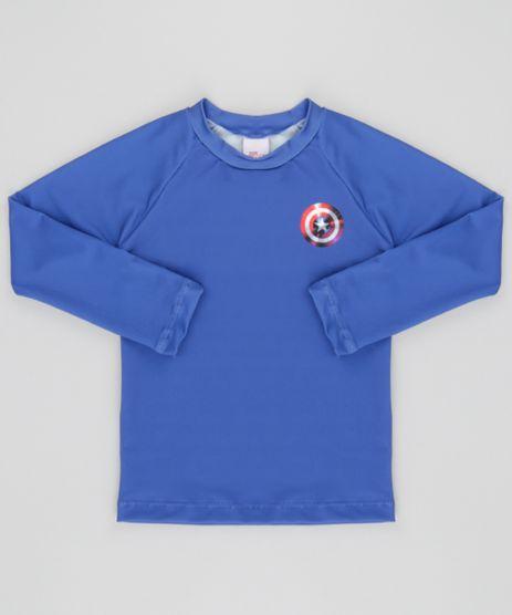 Camiseta-Capitao-America-com-Protecao-UV-50-Azul-8661889-Azul_1