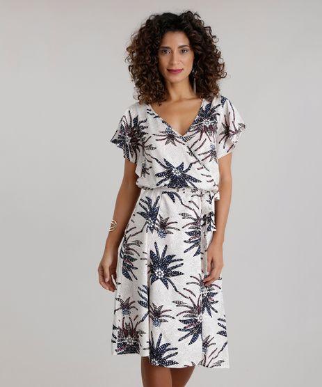 Vestido-Estampado-de-Penas-Bege-Claro-8682469-Bege_Claro_1