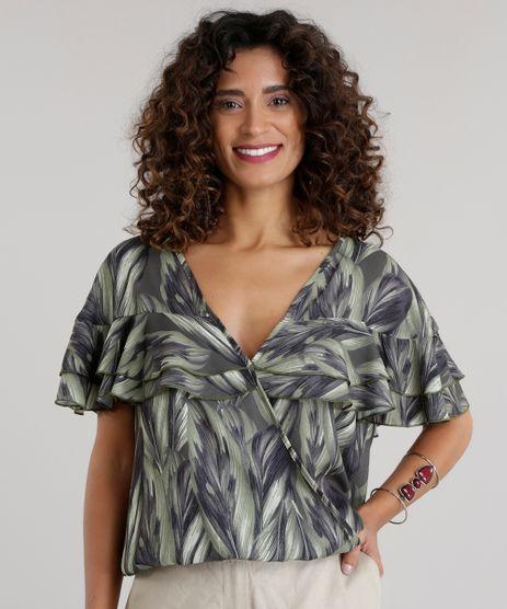 Blusa-Estampada--de-Folhas-Verde-Escuro-8669460-Verde_Escuro_1