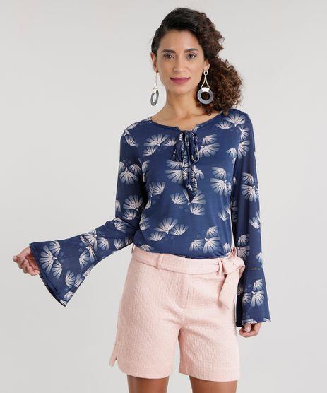 Blusa-Estampada-Floral-com-Laco-Azul-Marinho-8654218-Azul_Marinho_1