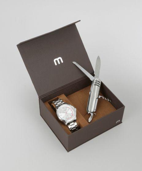 Kit-de-Relogio-Analogico-Mondaine-Masculino---Canivete-Suico---76605G0MVNH1KB-Prateado-8686652-Prateado_1