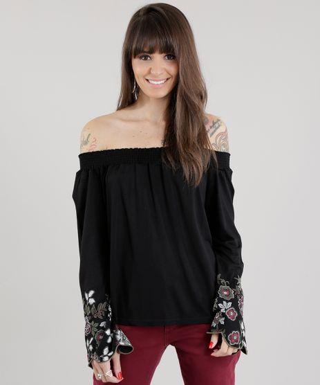 Blusa-Ombro-a-Ombro-com-Estampa-Floral-Preta-8638520-Preto_1