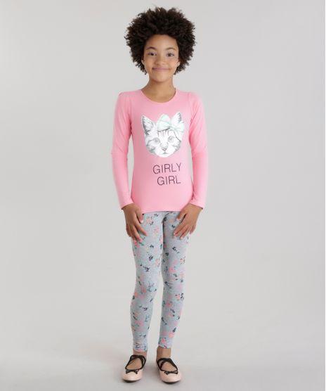 Conjunto-de-Blusa--Gatinho--Rosa---Calca-Legging-Estampada-Floral-Cinza-Mescla-8668859-Cinza_Mescla_1