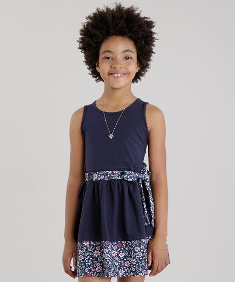 Vestido-com-Laco-com-Recorte-Estampado-Floral-Azul-Marinho-8673817-Azul_Marinho_1