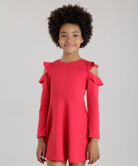 Vestido-Open-Shoulder-com-Babados-em-jacquard-Vermelho-8678485-Vermelho_1