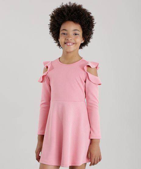 Vestido-Open-Shoulder-com-Babados-em-jacquard-Rose-8678485-Rose_1