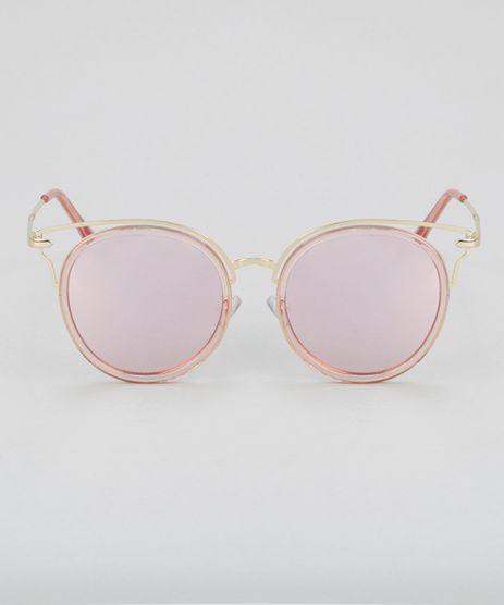 Oculos-de-Sol-Redondo-Feminino-Oneself-Dourado-8732534-Dourado_1