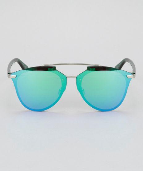Oculos-de-Sol-Redondo-Feminino-Oneself-Verde-8732551-Verde_1