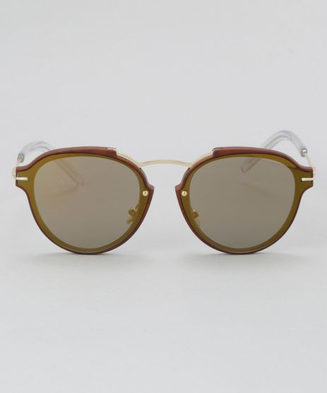 Oculos-de-Sol-Redondo-Feminino-Oneself-Marrom-8732563-Marrom_1