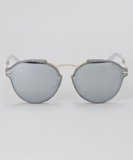 Oculos-de-Sol-Redondo-Feminino-Oneself-Cinza-8732566-Cinza_1