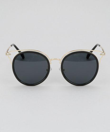 Oculos-de-Sol-Redondo-Feminino-Oneself-Dourado-8732528-Dourado_1