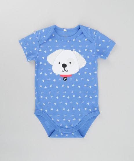 Body-Estampado-Cachorro-em-Algodao---Sustentavel-Azul-8580385-Azul_1