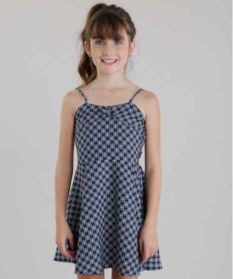 Vestido-Estampado-Floral-com-Laco-Azul-Marinho-8443249-Azul_Marinho_1