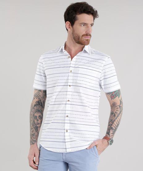 Camisa-Estampada-Etnica-em-Algodao---Sustentavel-Branca-8585437-Branco_1