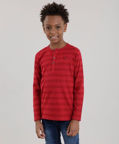 Camiseta-Listrada-com-Bolso-Vermelha-8630076-Vermelho_1