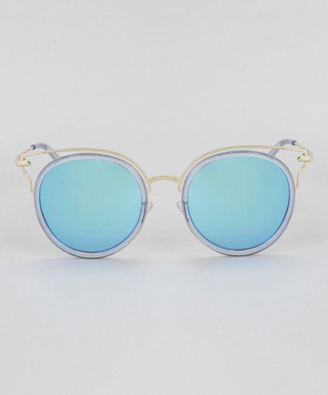 Oculos-de-Sol-Redondo-Feminino-Oneself-Dourado-8732525-Dourado_1