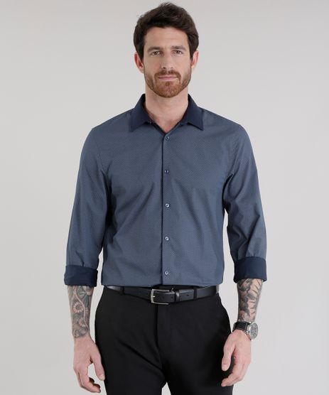 Camisa-Slim-Estampada-em-Algodao---Sustentavel-Azul-Marinho-8584470-Azul_Marinho_1