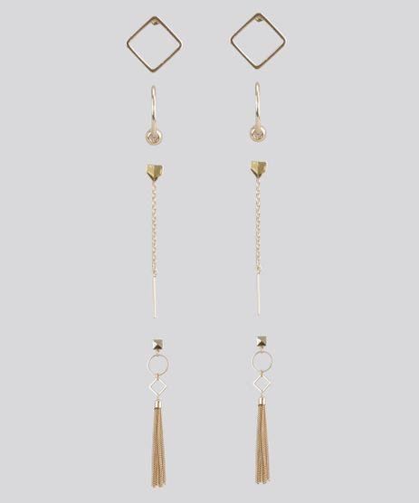 Kit-de-4-Brincos-Dourado-8459735-Dourado_1