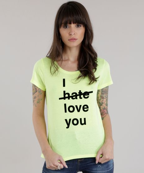 Blusa--I-Love-You--Amarelo-Neon-8702418-Amarelo_Neon_1