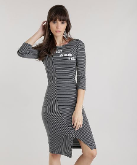 Vestido-Listrado--I-Lost-My-Heart-In-NYC--Preto-8676140-Preto_1