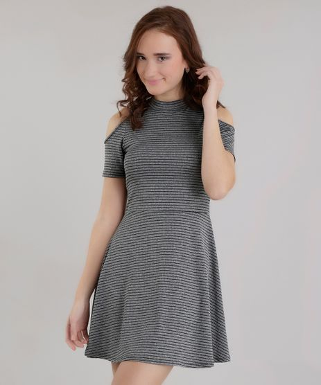 Vestido-Open-Shoulder-Listrado-Cinza-Mescla-8646189-Cinza_Mescla_1
