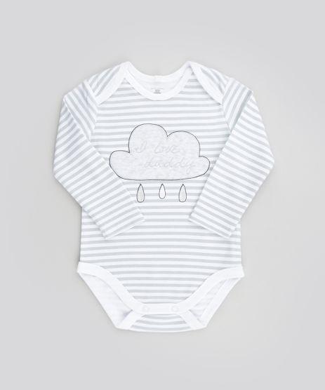Body-Estampado--i-Love-Daddy--em-Algodao---Sustentavel-Branco-8500267-Branco_1