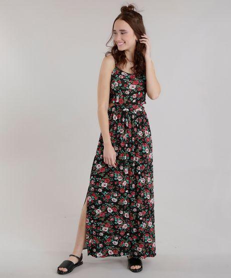 Vestido-Longo-Estampado-Floral-Preto-8643321-Preto_1