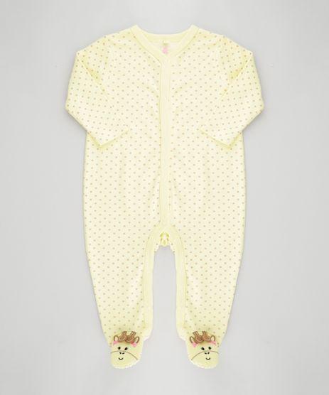 Macacao-Estampado-Girafa-em-Algodao---Sustentavel-Amarelo-8499428-Amarelo_1