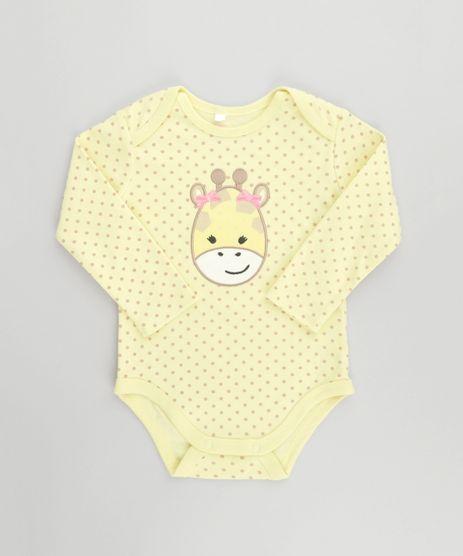 Body-Estampado-Girafa-em-Algodao---Sustentavel-Amarelo-8499414-Amarelo_1