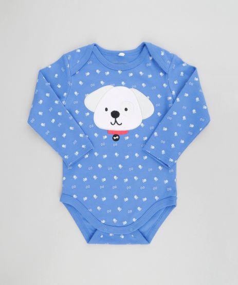 Body-Estampado-Cachorro-em-Algodao---Sustentavel-Azul-8580273-Azul_1