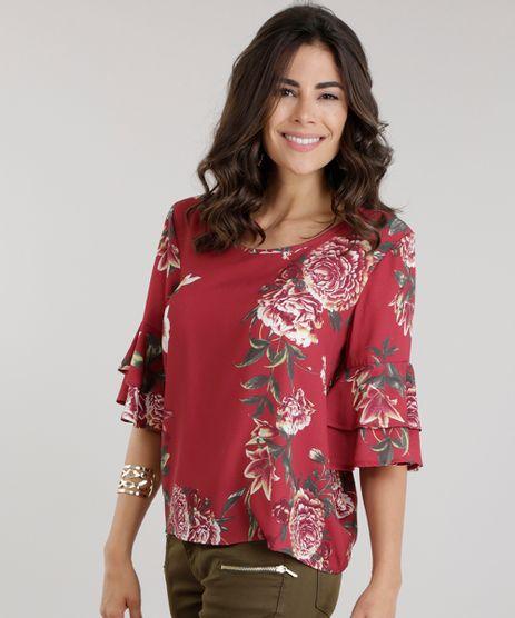 Blusa-Ampla-Estampada-Floral-Vermelha-8669469-Vermelho_1