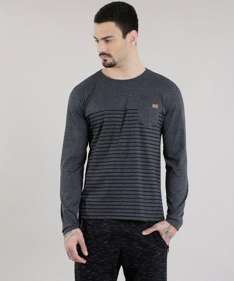 Camiseta-com-Estampa-de-Listras-Cinza-Mescla-Escuro-8581855-Cinza_Mescla_Escuro_1