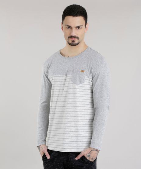 Camiseta-com-Estampa-de-Listras-Cinza-Mescla-8581855-Cinza_Mescla_1