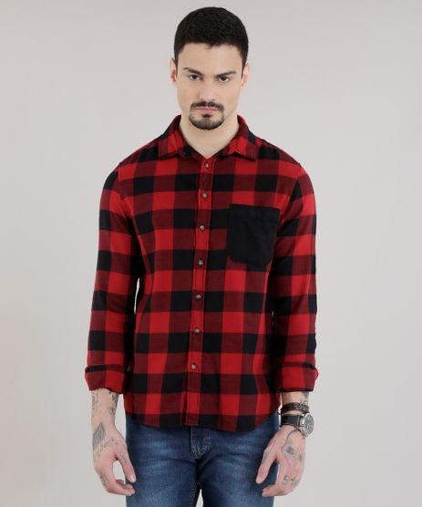 Camisa-Xadrez-em-Flanela-Vermelha-8623400-Vermelho_1