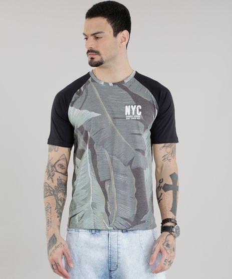 Camiseta-Estampada-de-Folhas-Preta-8683957-Preto_1