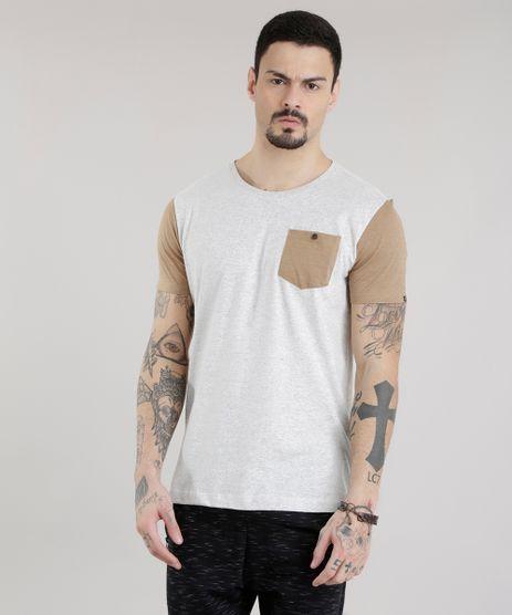 Camiseta-com-Bolso-Cinza-Mescla-Claro-8677641-Cinza_Mescla_Claro_1