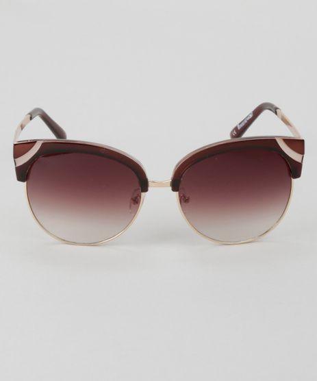 Oculos-de-Sol-Redondo-Feminino-Oneself-Dourado-8744367-Dourado_1
