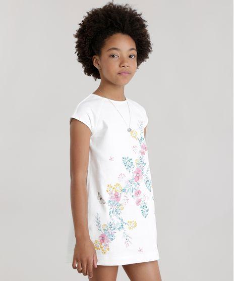 Vestido-em-Piquet-com-Estampa-Floral-em-Algodao---Sustentavel-Off-White-8582377-Off_White_1